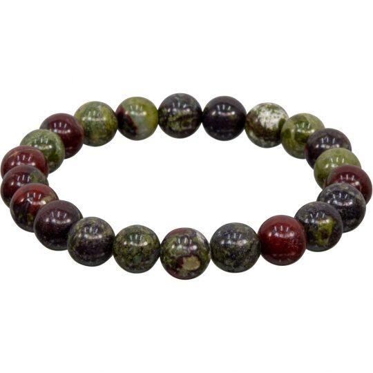 Dragon's Blood Jasper - Large 12mm stones - elastic band - LIMITED AVAILABILITY - ORDER NOW!
