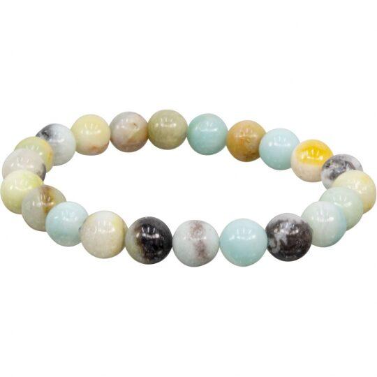 Mixed Amazonite Bracelet - 8mm stones - elastic band - LIMITED AVAILABILITY - ORDER NOW!