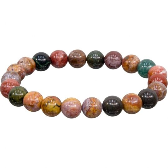 Ocean Jasper Bracelet - 8mm stones - elastic band - LIMITED AVAILABILITY - ORDER NOW!