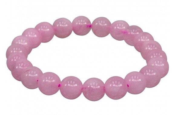 Rose Quartz Bracelet - 8 mm stones - elastic band - LIMITED AVAILABILITY - ORDER NOW!