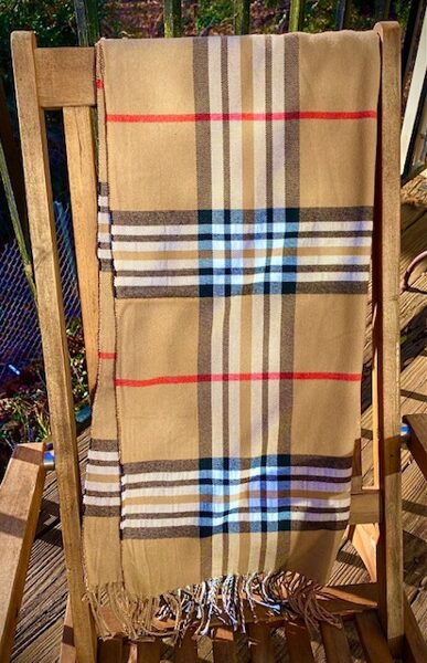 Soft and Warm Burberry Look-Alike Pashmina Scarf