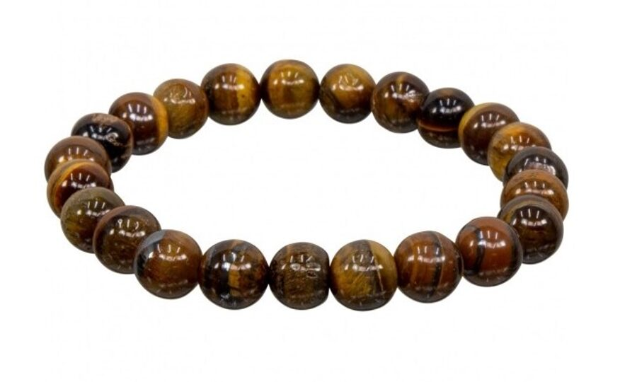 Tigers Eye Bracelet - 8 mm stones - elastic band - LIMITED AVAILABILITY - ORDER NOW!